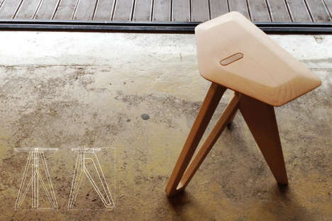 Tripod Stool by Eunjin Jung