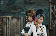Street Glamour Portraits - The Ones 2 Watch Mash Up Editorial Features Over-the-Top Styling
