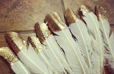 DIY Festive Feather Decor