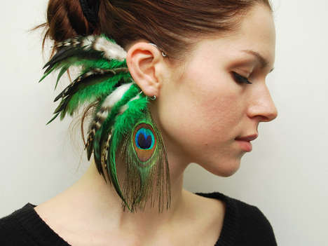feathered accessories