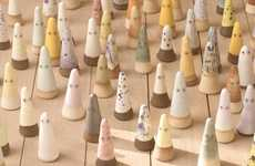 Miniature Ceramic Ghouls