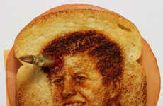 From Branded Bread Slices to Large Scale Toaster Portraits
