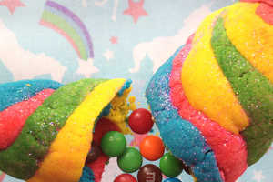 Unicorn Horn Cookies are Best When Filled with Rainbow Candy
