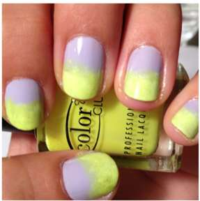 Neon DIY Spring Ombre Nails