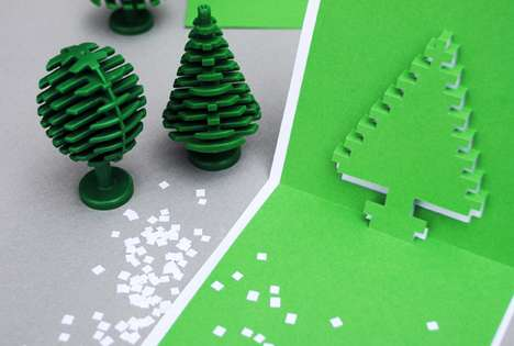 Christmas Pixel Pop-Up Cards
