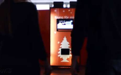 interactive vending machine