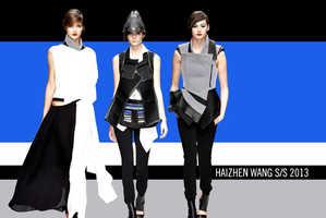 The Haizhen Wang Spring 2013 Collection Has Hip Accentuating Peplum Belts