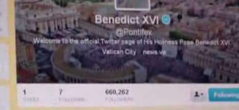 pope benedict xvi tweets
