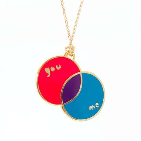 You and Me Pendant by Yellow Owl