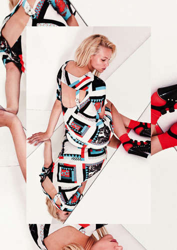 Kaleidoscopic Fashion Photography