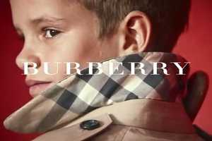 Romeo Beckham Makes His Modelling Debut with Burberry