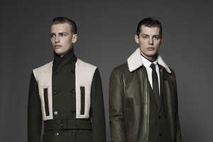 The Dior Homme Les Essentiels Line Meshes Fatigues with High Fashion