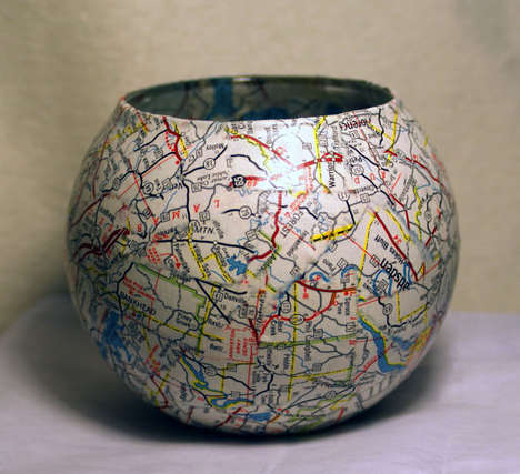 Maps Candle Holder