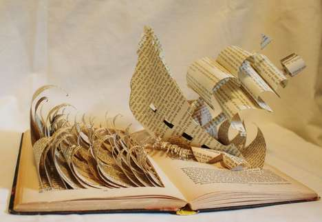 Jodi Harvey-Brown Book Sculptures