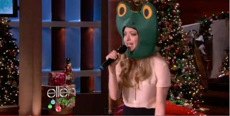 amanda seyfried appeared in a frog suit
