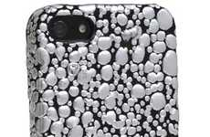 Dewdrop Smartphone Covers - The Omnes WaterDrop iPhone 5 Case Looks Like Metallic Pouring Rain