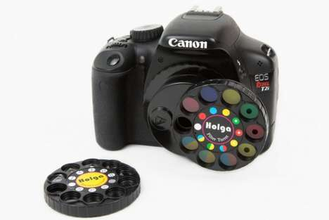 Color Altering Camera Lenses - The Holga Camera Filters Will Brighten Up Your Life with Color