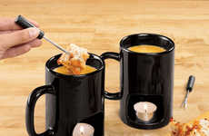 Single Dipping Dessert Sets - The Personal Fondue Mugs Let Chocolate Lovers Enjoy These Treats Alone