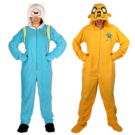Cult Cartoon Onesies - These Adventure Time Pajamas Let you Get Comfy with Your Favorite Pals