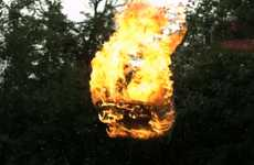 Majestic Flying Fireball Videos
