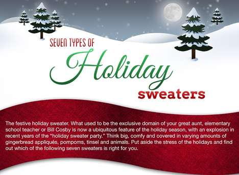 Ugly Christmas Sweater Personalities - The Holiday Sweater Infographic Tells What Your Jumper Means
