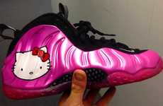Feline Mogul Ball Sneakers - The Hello Kitty Nike Air Foamposite One are Technically Adorable