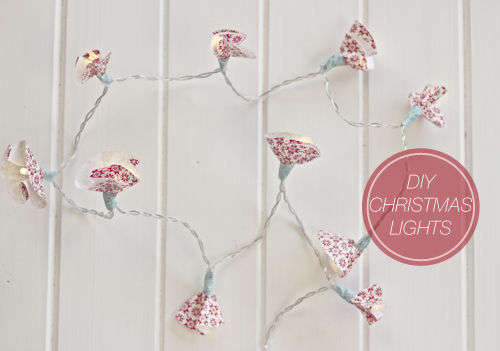 Floral Wrapping Paper Lighting