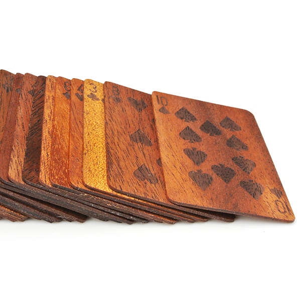 Wooden Deck of Cards 2