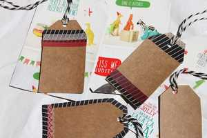 These Recycled Gift Tags are Eco-Savvy, Festive and Fun to Make