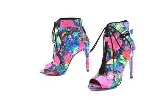The Brian Atwood Linford Floral Booties are for the Urban Nymphs