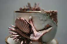 Crustacean-Inspired Tea Sets