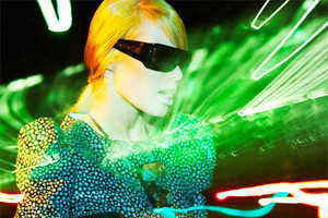 The Grazia Magazine 'Ray of Light' Editorial is Strikingly Futuristic