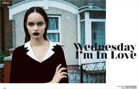 Macabre Goth Muses - The I Love Fake Magazine Winter Issue Pays Homage to Wednesday