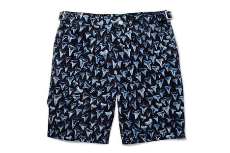 Shark Tooth Shorts - The Paul Smith Shark Print Swim Shorts are Jaws-Worthy