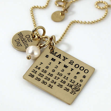 Wedding Day Calendar Jewelry