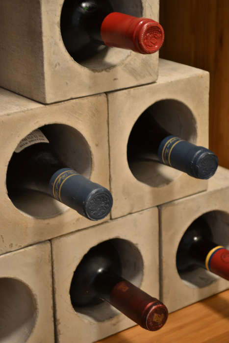 concrete wine bunker