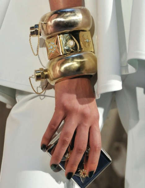 Classy Disguised Booze Bangles - Cynthia Rowley Bangle Flask Accessories are Both Chic and Boozy Fun