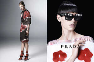 The Prada Spring 2013 Campaign Blooms with Oriental Femininity