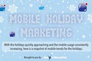 The 'Mobile Holiday Marketing' Infographic Examines Seasonal Campaigning
