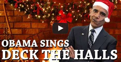 Obama Sings Deck the Halls