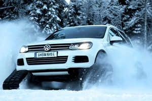 The Volkswagen Snowareg Drops Its Wheels for Tank Tracks