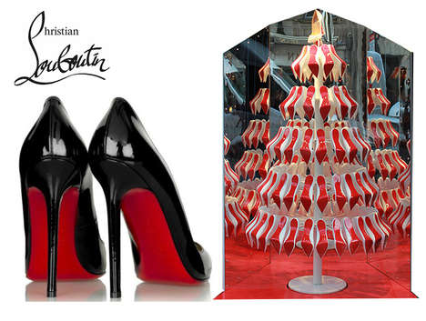 Christian Louboutin Red-Soled Christmas Tree