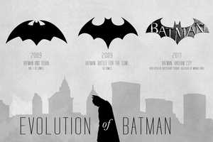 Track the Batman Logo Evolution Over Time with This Poster