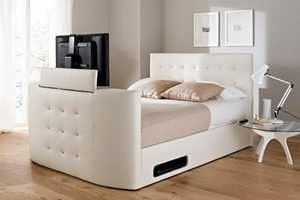 The Atlantis Ottoman TV Bed is an Impressive Piece of Opulence