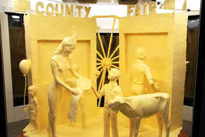Sculptor Jim Victor Thinks Outside the Box with Butter Sculptures