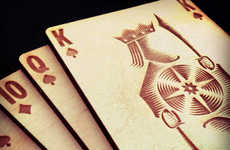 The Very Artistic Polaris Wooden Card Deck Will Jazz Up Casino Nights