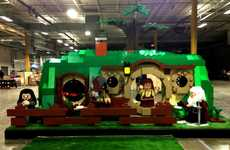 Life-Sized Hobbit Home Replicas - The LEGO Hobbit Hole is Big Enough to Step Inside