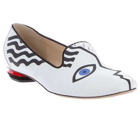 Cubist Painter Flats - The Nicholas Kirkwood 'Picasso' Slipper is a Humble Work of Art