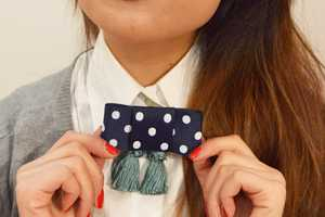 The DIY Bow and Tassel Collar is a Mix of Boho and Chic Fashions