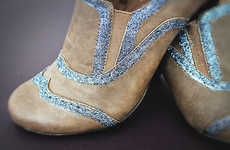 Upcycled Sparkle Brogues